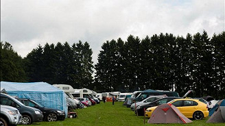 Coach and Camping Pitch
