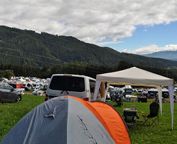 Red Bull Ring Pink Campsite