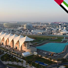 Yas Marina Circuit, the Abu Dhabi F1 race track