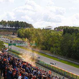 Circuit de Spa-Francorchamps, the Belgium F1 race track