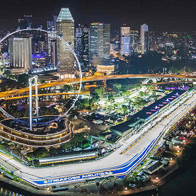 Marina Bay Street Circuit, the Singapore F1 race track