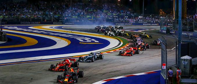 Marina Bay Street Circuit, Austragungsort des Großen Preises von Singapur