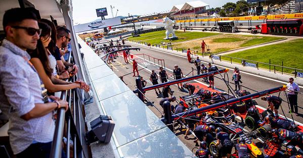 Paddock Club Balcony View