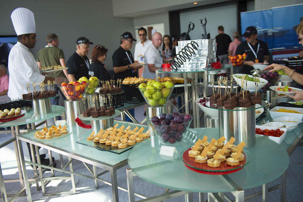 Abu dhabi harbour club yas viceroy catering