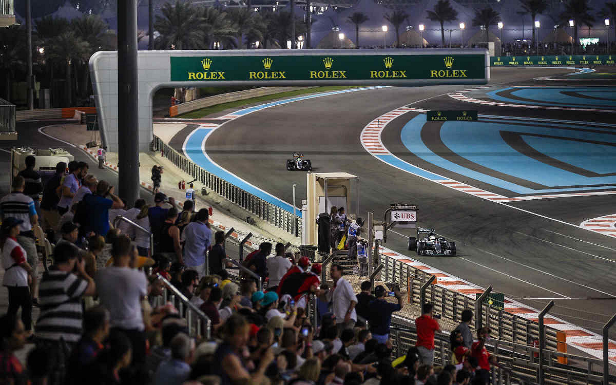 Abu dhabi yas suite north trackview