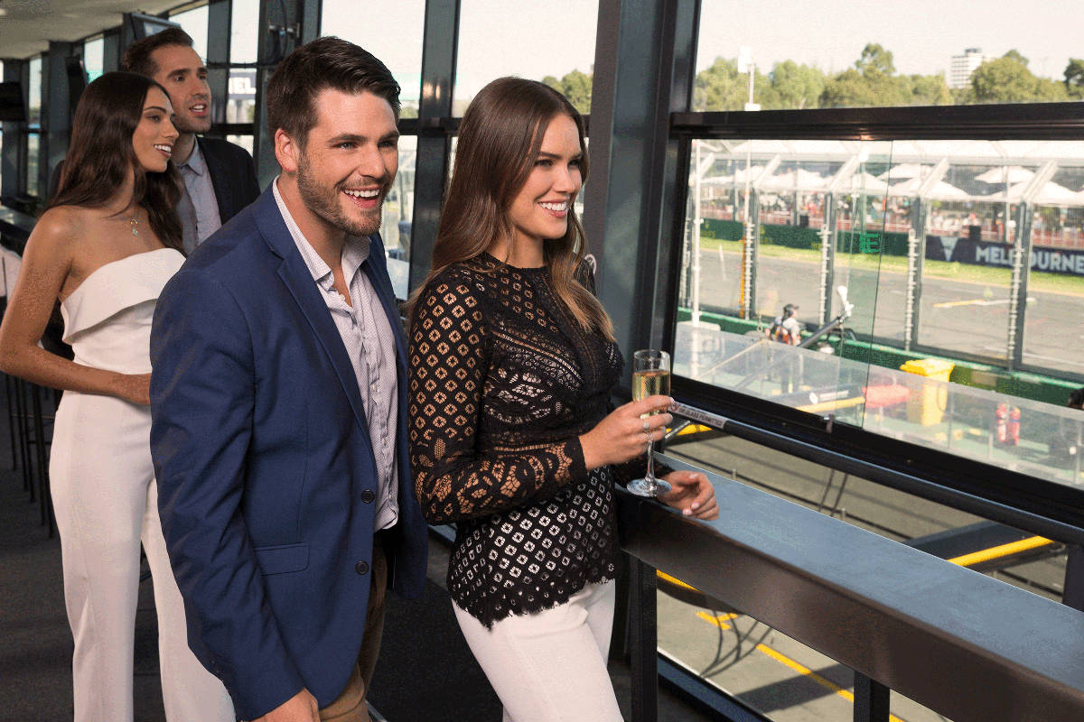 Australia formula one paddock club premium suite guests
