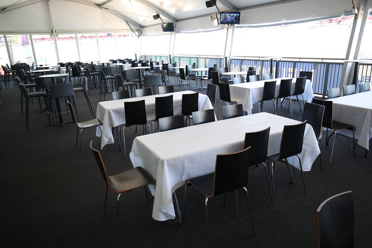 Australia pit entry victory suite table seating