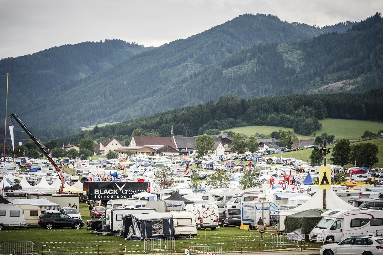 Red Bull Ring Orange Campsite