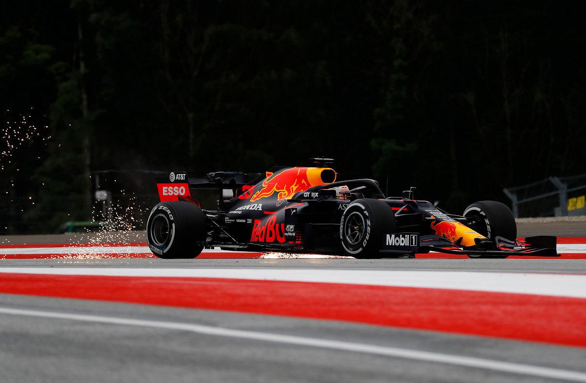 Austria car on track