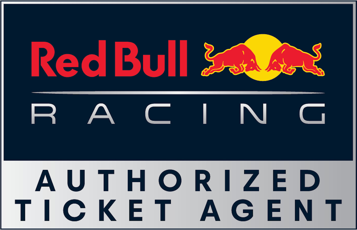 Belgium red bull racing paddock club  authorized ticket agent logo