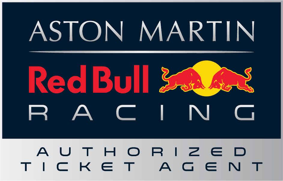 Britain aston martin red bull racing paddock club  authorised agent logo