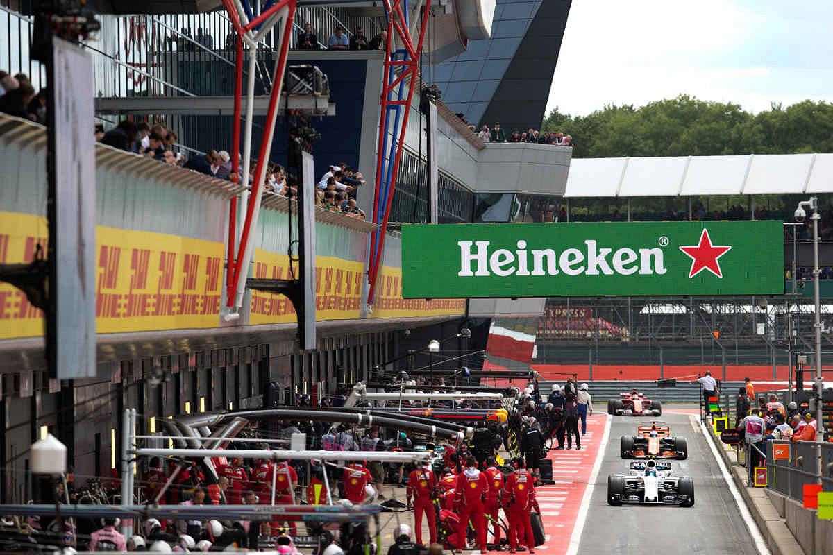Britain formula one paddock club  pit lane