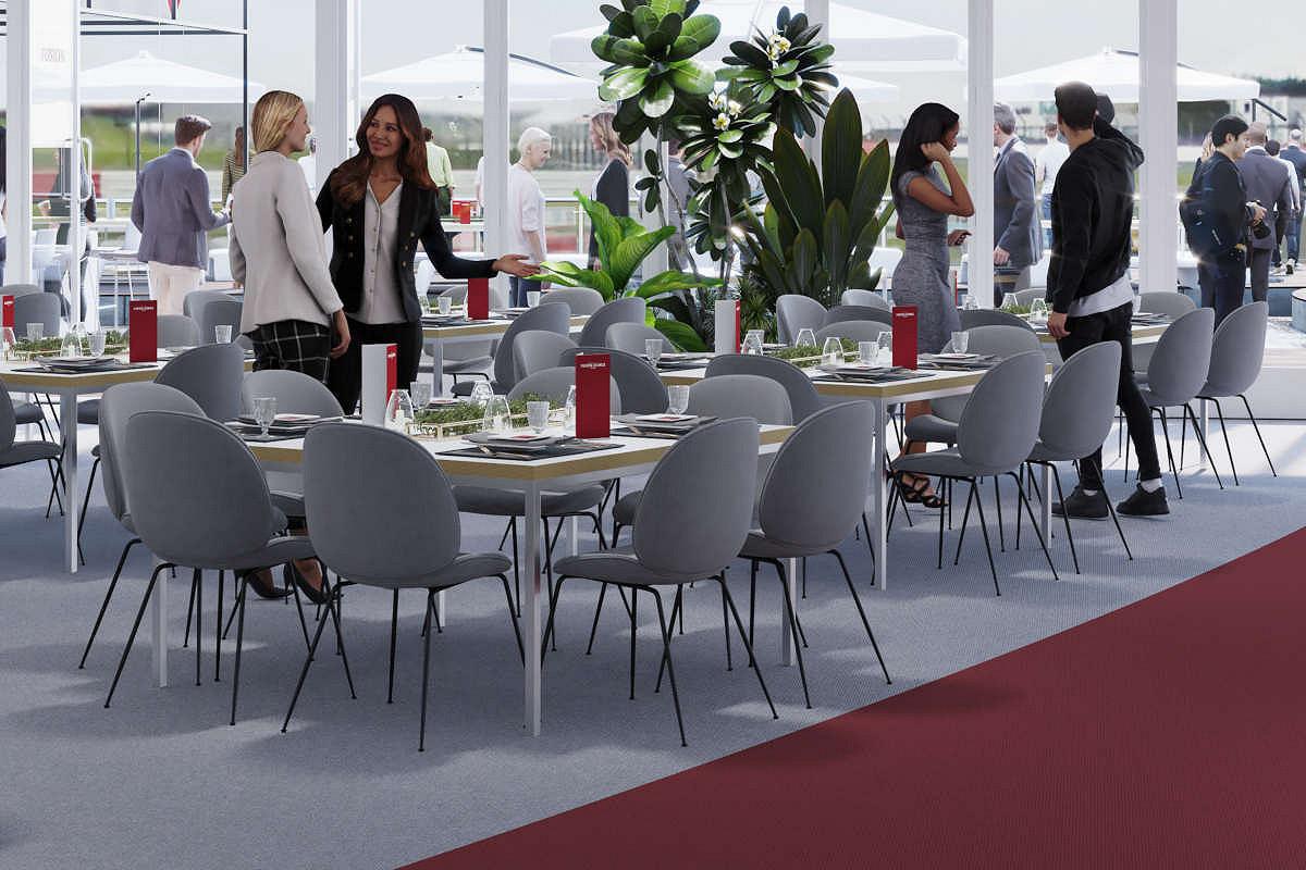 Britain fusion lounge hospitality seating area
