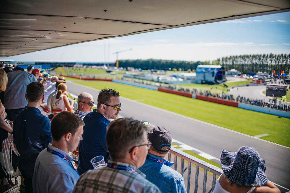 Britain hospitality riders lounge race viewing
