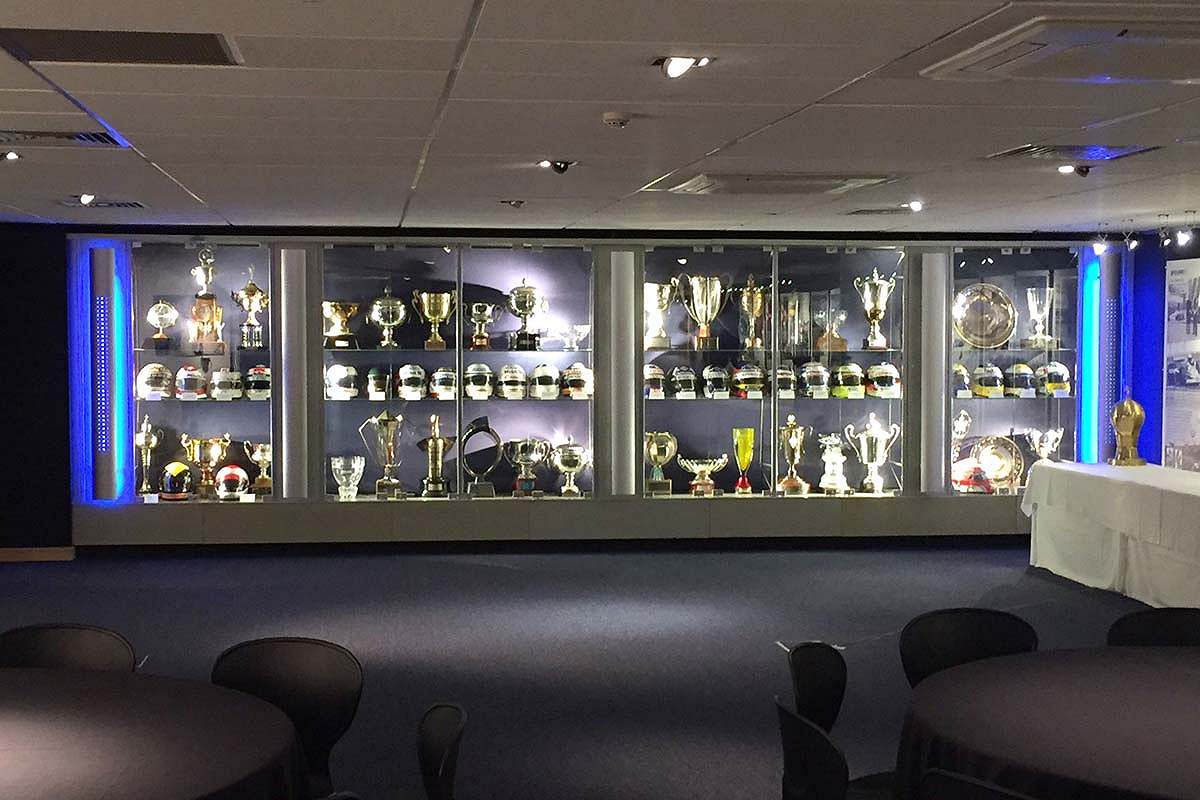 Britain williams f1 race day hospitality trophy room and activity space