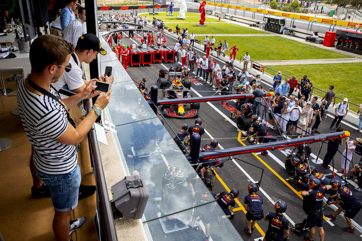 Canada aston martin red bull racing paddock club  pit stop overview