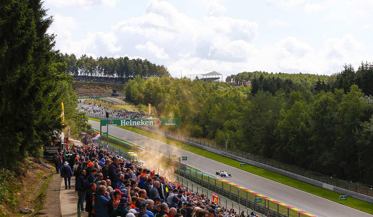 Circuit de Spa-Francorchamps, the Belgium F1 race track