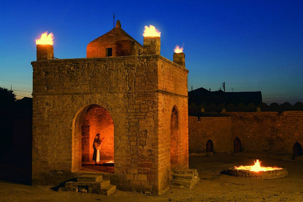 Fire Temple of Ateshgah at Night