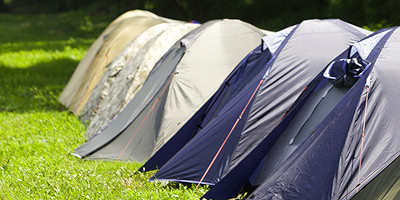 France coach from london camping and start finish tents