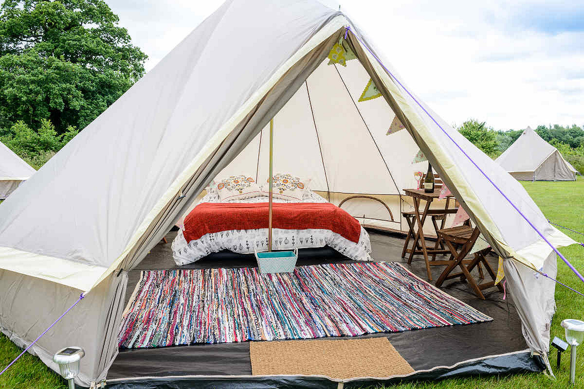 Glamping tent internal