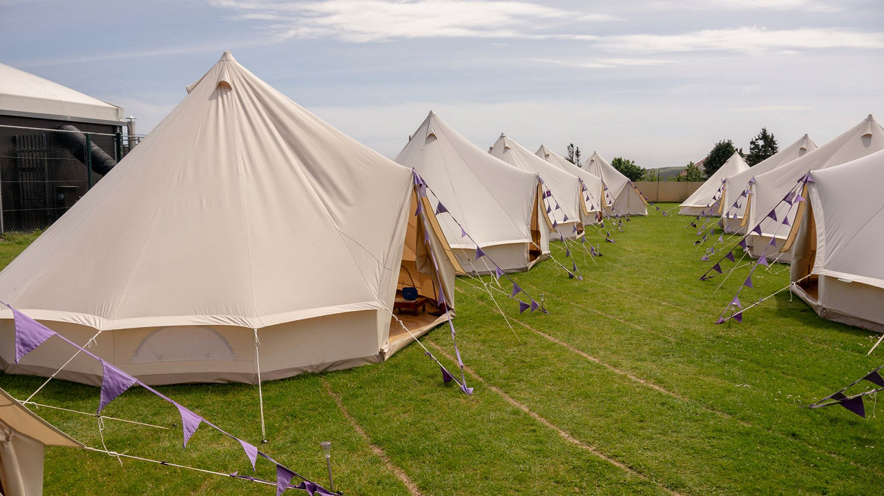 4 Night Hotel Bell Tent Race Break One (3 Persons)