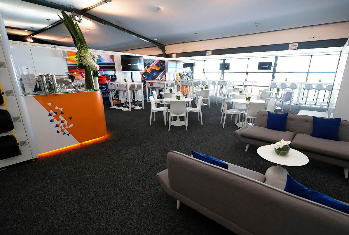 Mexico mclaren f1 experience private suite
