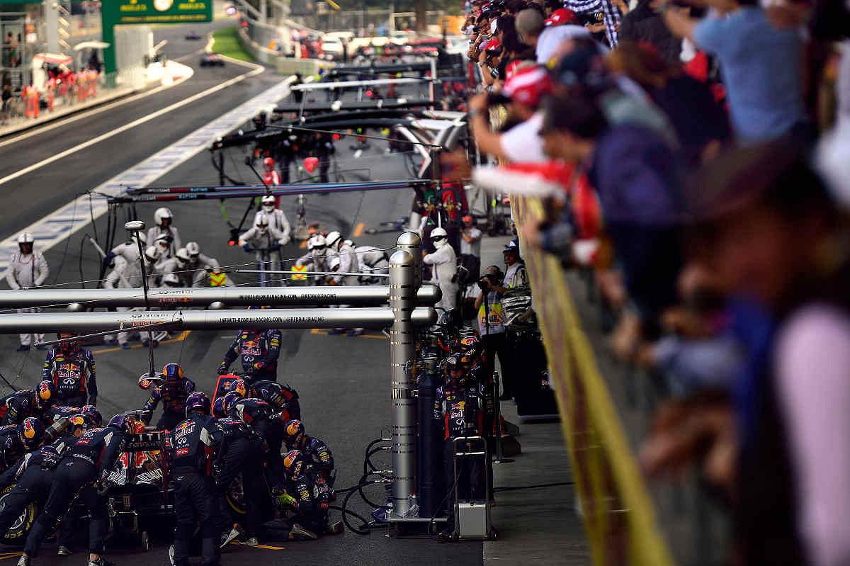 Mexico pit lane