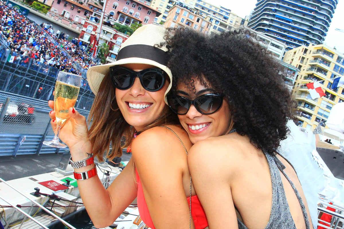 Monaco amber lounge celebrity yacht spectators