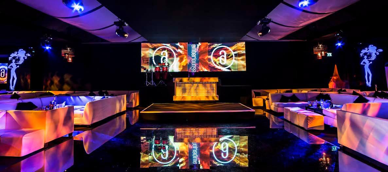 Monaco amber lounge vip table