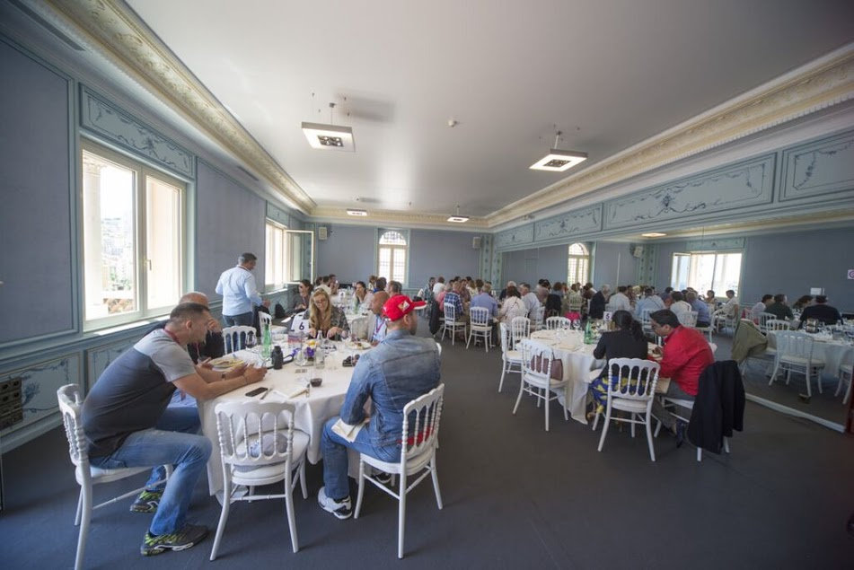 Monaco club f1 platinum package table lunch