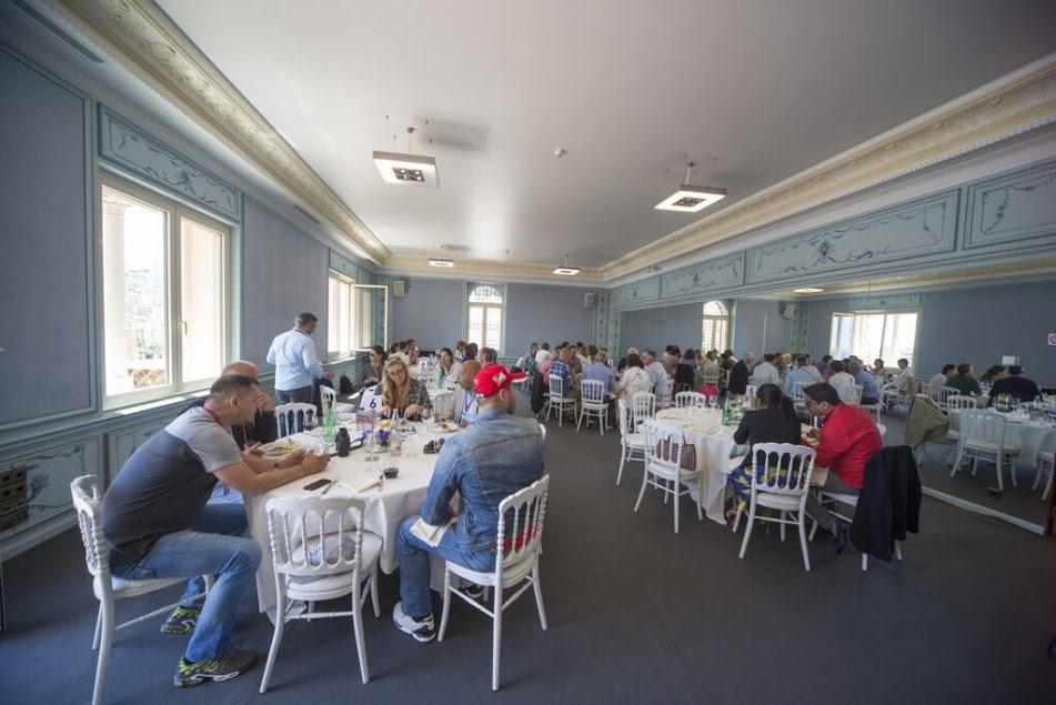 Monaco club f1 platinum package table lunch