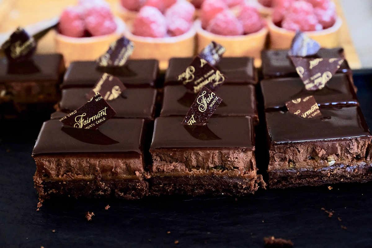 Monaco harbour club fairmont spa hospitality dessert