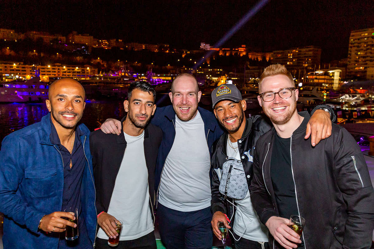 Monaco harbour club friday night yacht party guests