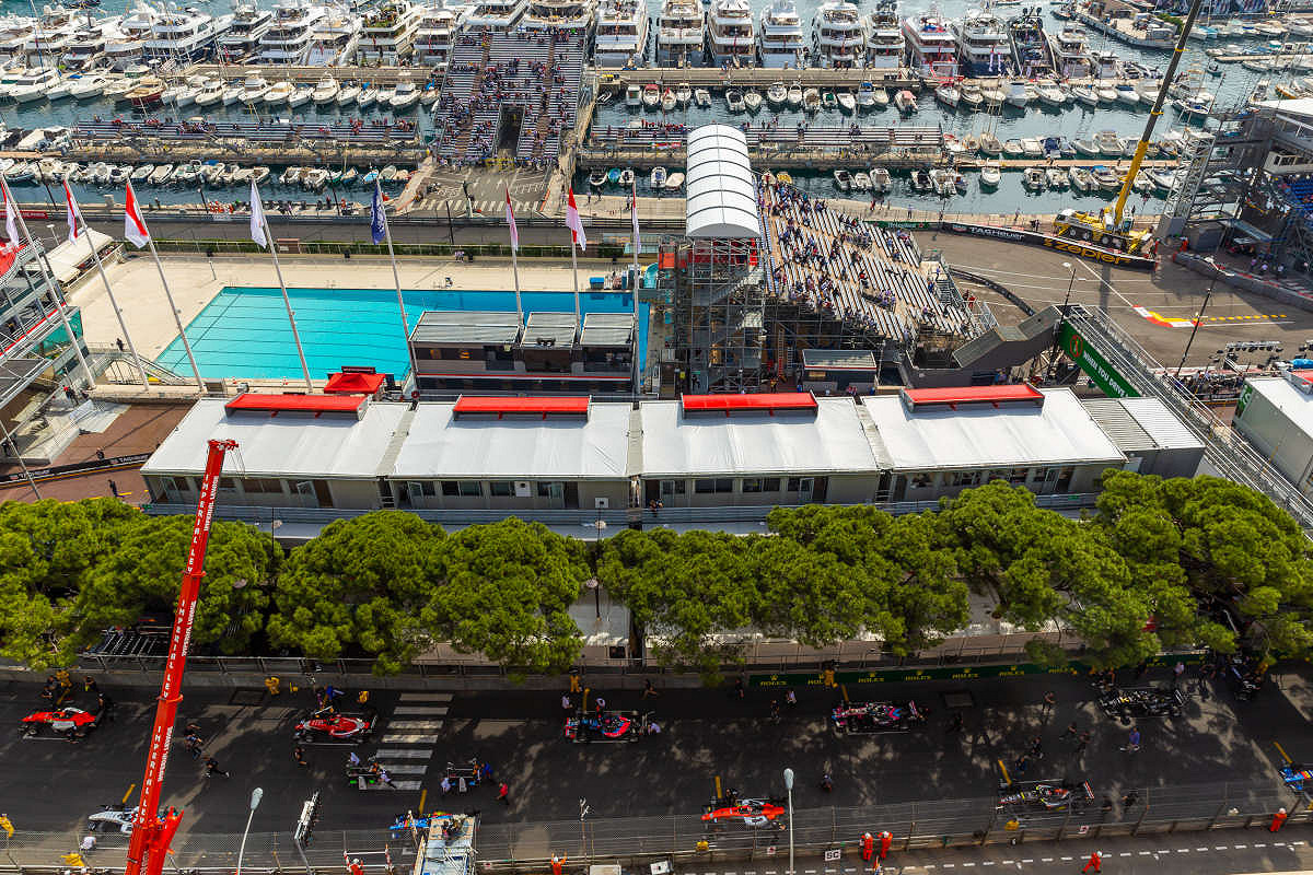 Monaco harbour club shangri la view of pits
