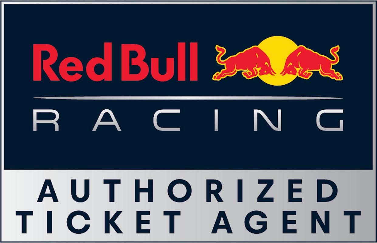 Monaco the red bull racing honda rooftop terrace  authorized ticket agent logo