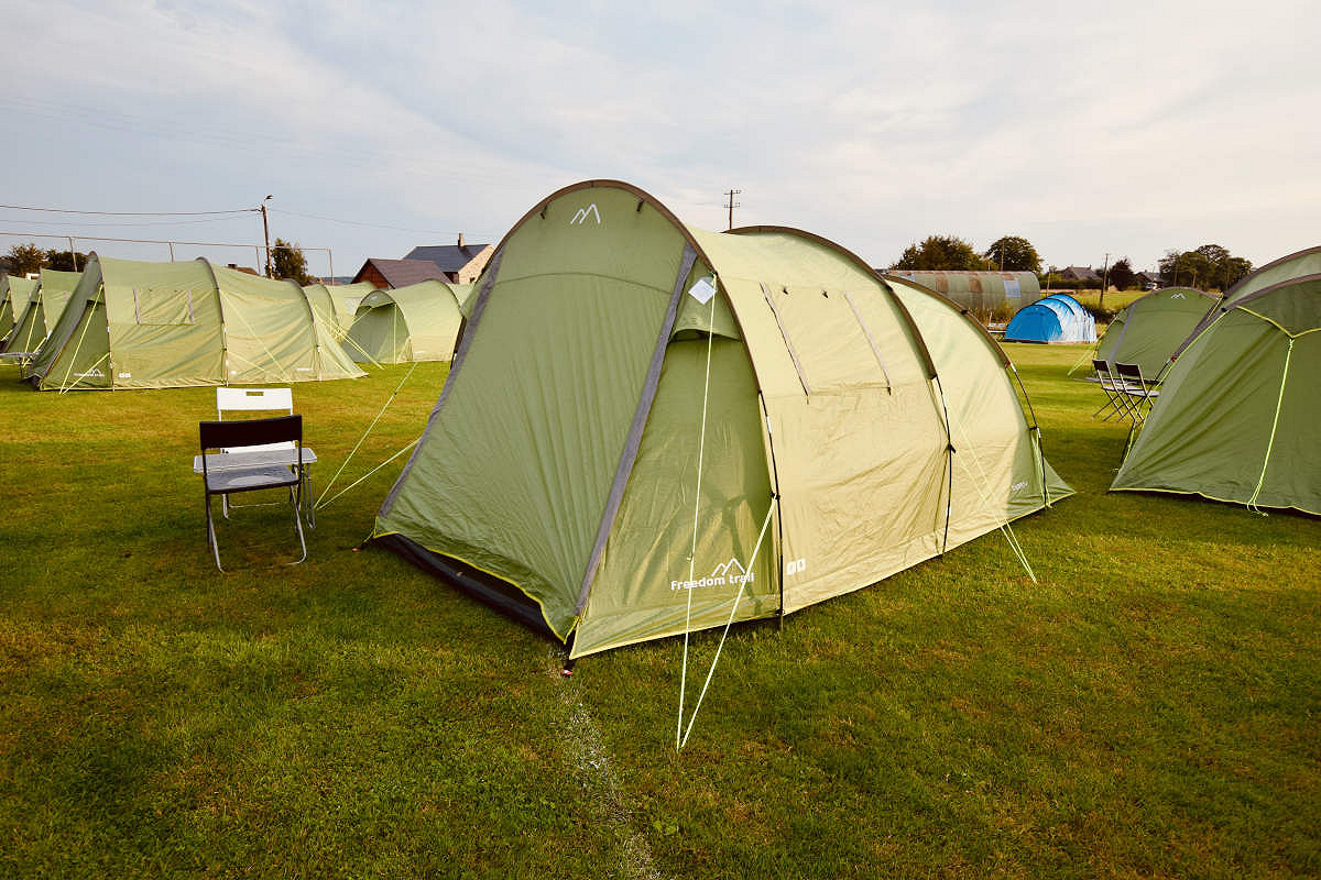 Eurotunnel and Pre-erected Tent Package