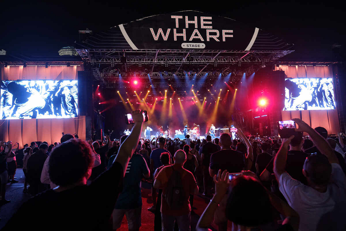 Singapore the cube patio wharf stage