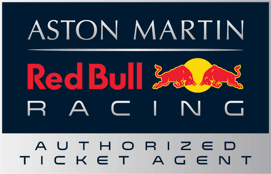 Spain aston martin red bull racing paddock club  authorised agent logo