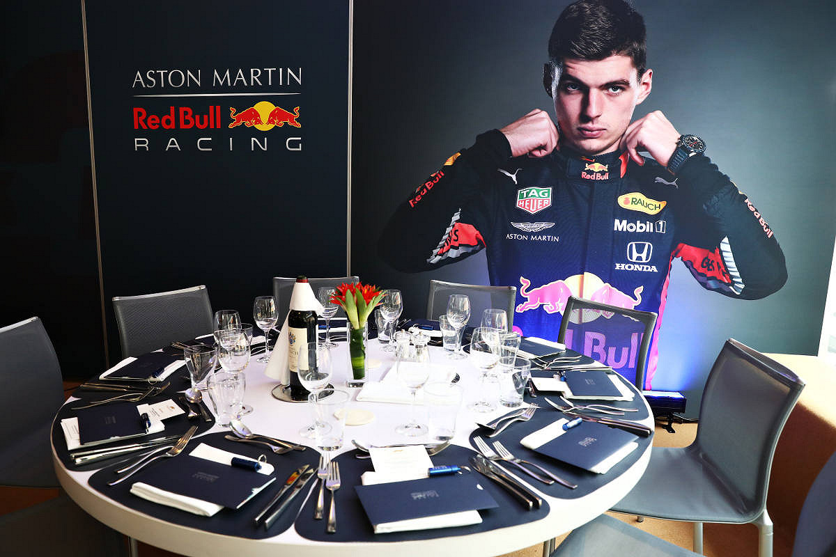 Spain aston martin red bull racing paddock club  catering
