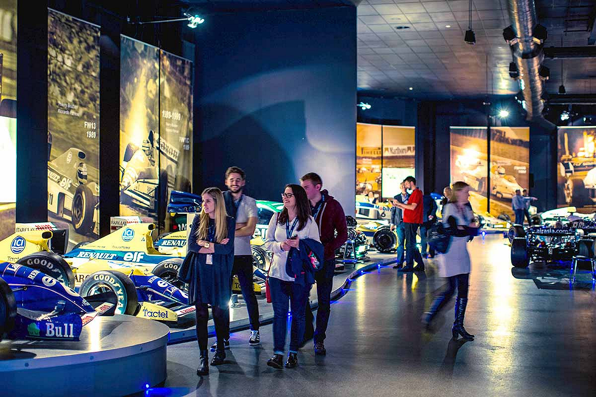 Spain williams f1 race day hospitality tour of the heritage collection