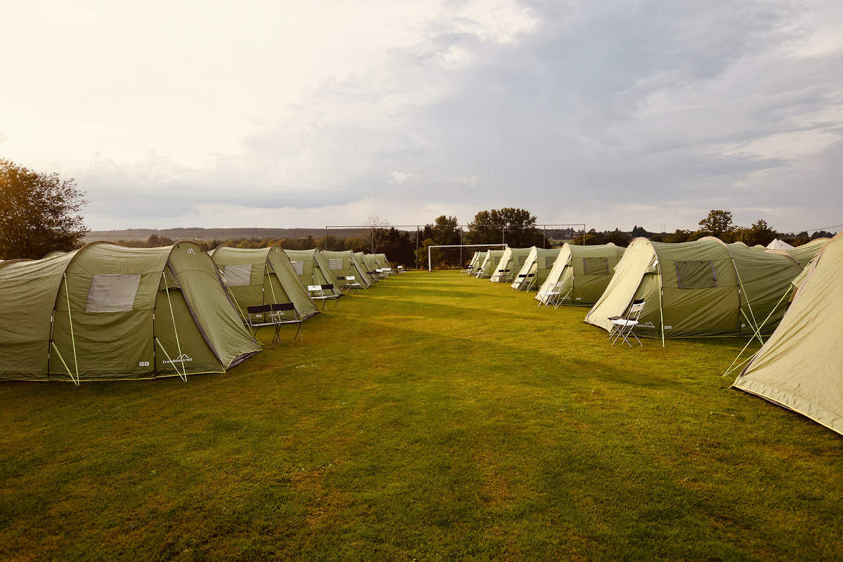Coach and Pre-erected Tent Package